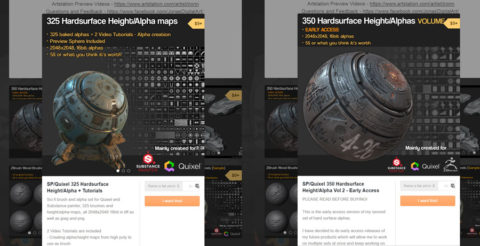 Jonas Ronnegard hard surface height and alpha brushes
