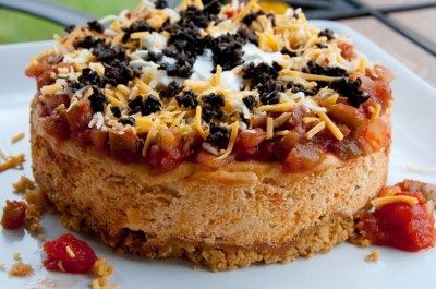Mexican Appetizer Cheesecake | Mama, Can I Lick the Spoon?