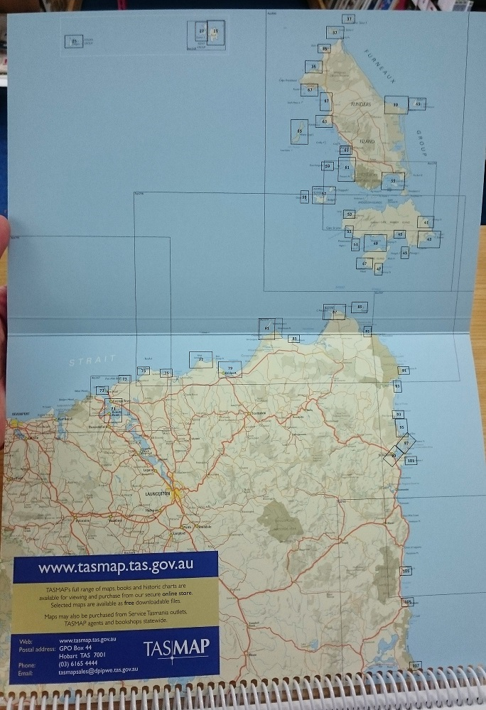 Cruising North East Tasmania   The Tasmanian Map Centre Cruising North East Tasmania Cover Cruising North East Tasmania Index