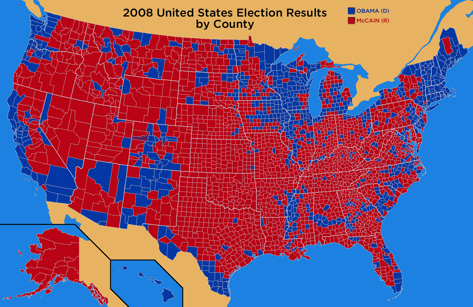 November   2008   MartiniPundit 2008 general election results by county