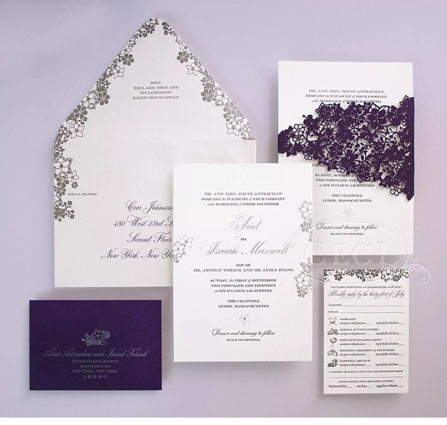 ceci new york new york ny spanish wedding invitations