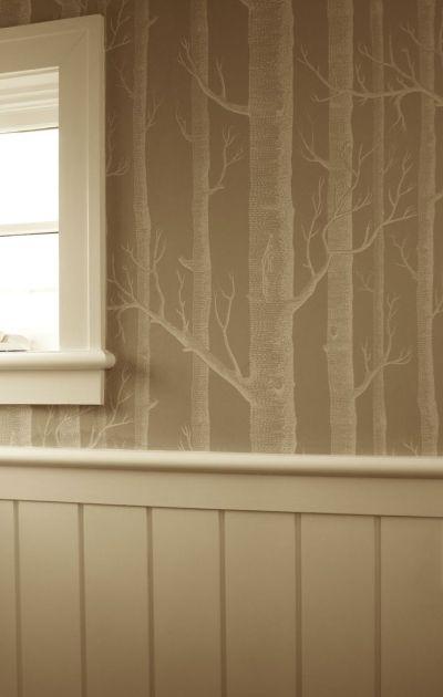 wallpaper/trim/paint combo | For My Home | Pinterest