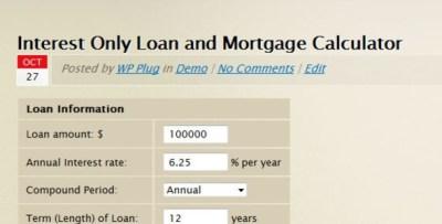 loan-calculator-4u: Interest Only Loan/Mortgage Calculator | Money & Mortgages | Pinterest