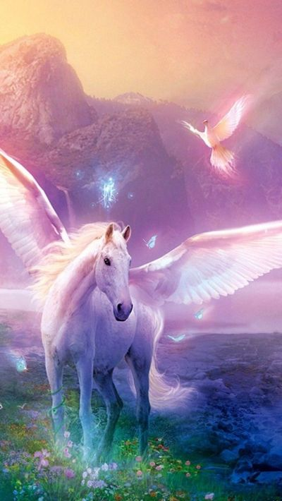 Unicorn iPhone Wallpaper | Color - Glitter Sparkle Glow Colorful | Pi…