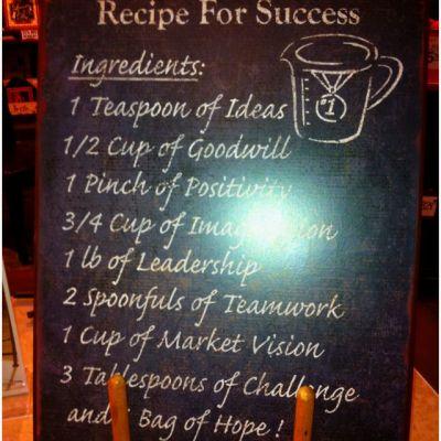 Recipe For Success Quotes. QuotesGram