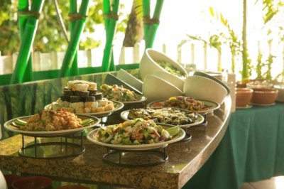 Enjoy an endless array of fresh local salads at Westin Starlight Barbecue. - Picture of Westin ...