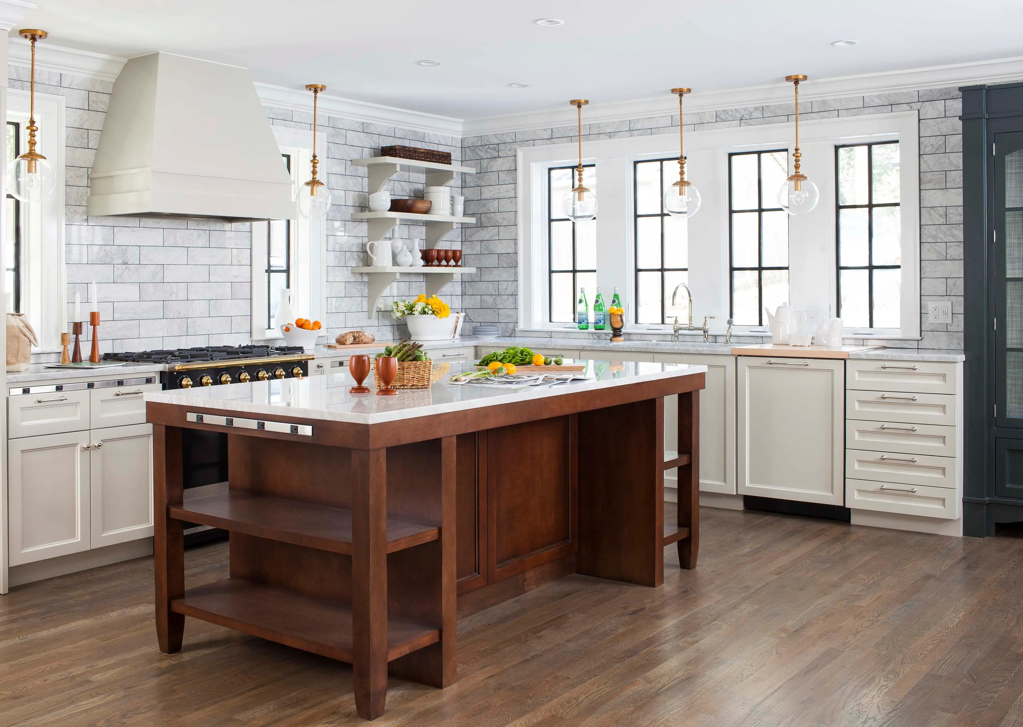 trends upper kitchen cabinets The clients wanted to eliminate all upper cabinets The CornuFe 90 range was the only