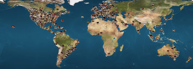 Ultra Street Fighter 4 players world map