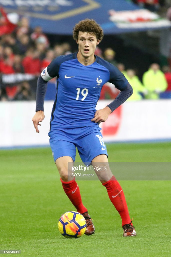 Benjamin Pavard in action during the friendly soccer match     Benjamin Pavard in action during the friendly soccer match between France  and Wales at Stade de
