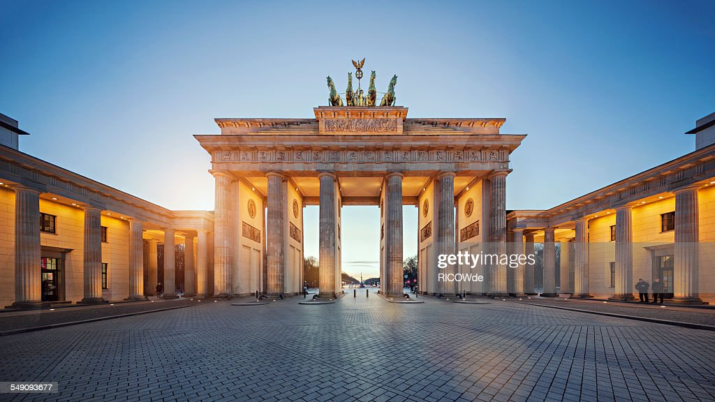 Berlin Stock Photos and Pictures   Getty Images Brandenburg Gate at sunset