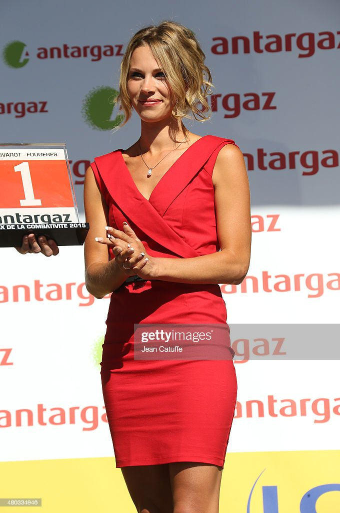 Marion Rousse Stock Photos and Pictures   Getty Images Cyclist champion Marion Rousse works as an hostess on the podium following  stage seven of the