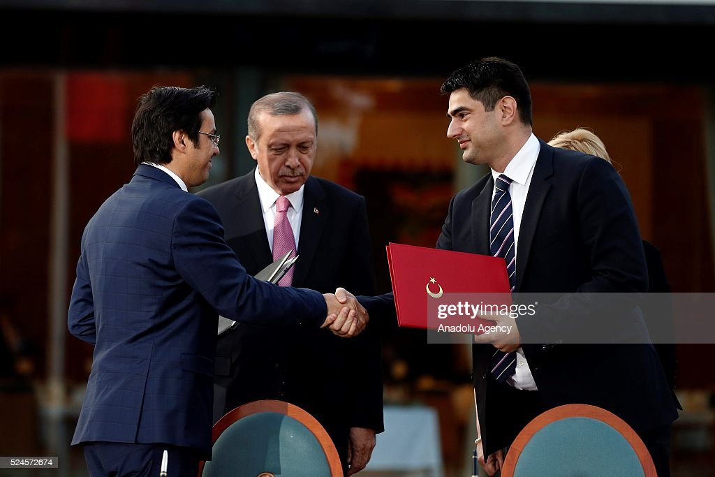 Turkish President Erdogan in Croatia Pictures   Getty Images Deputy Head of Turkish Radio and Television Corporation  TRT   Ibrahim Eren   L