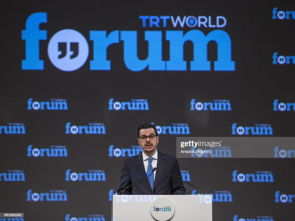 Turkish Radio And Television Corporation Stock Photos and Pictures     Director General of the Turkish Radio and Television Corporation Ibrahim  Eren delivers a speech during the