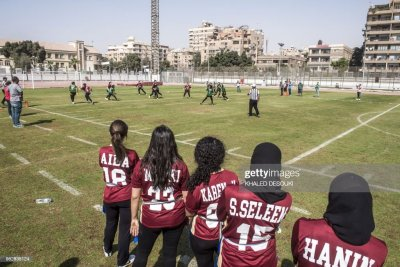 Egyptian female American football players from the AUC ...