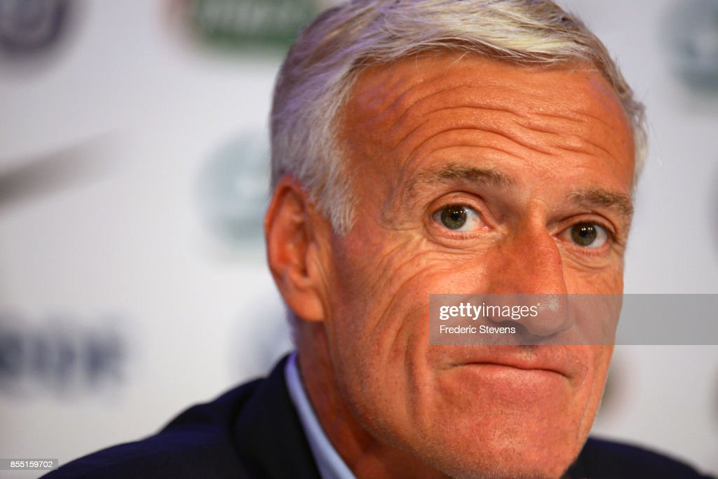Didier Deschamps   Press Conference Photos and Images   Getty Images French football team head coach Didier Deschamps gives a press conference  at the French Football Federation