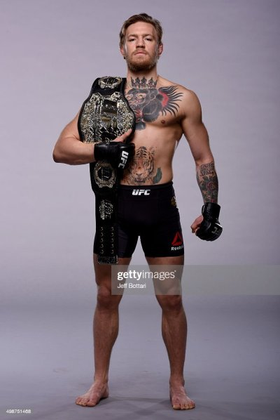 UFC interim featherweight champion Conor 'The Notorious' McGregor... News Photo | Getty Images