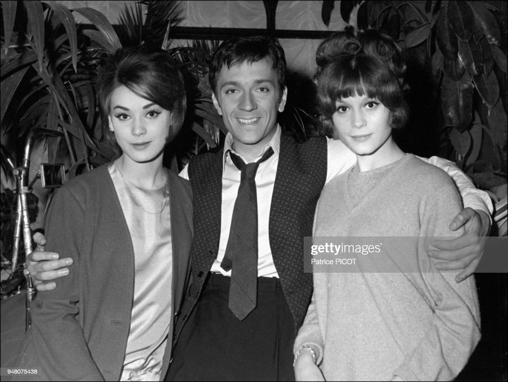 Jean Pierre Cassel with Francoise Dorleac and Genevieve Grad     Jean Pierre Cassel with Francoise Dorleac and Genevieve Grad