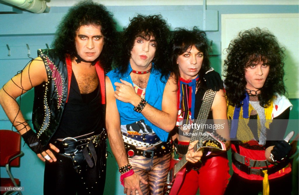 Kiss Band Pictures and Photos   Getty Images Kiss group portrait without make up London August 1983 LR Gene Simmons Paul  Stanley Vinnie Vincent