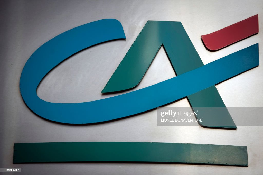 The logo of the  Credit Agricole  bank sign is seen on December 14     The logo of the  Credit Agricole  bank sign is seen on December 14