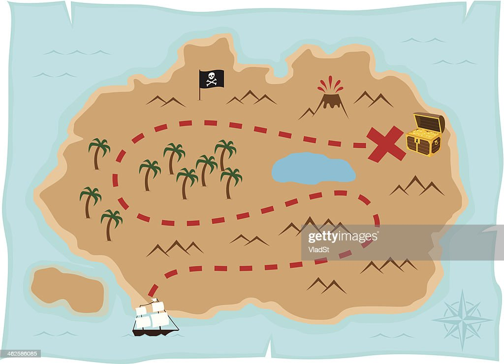 Treasure Map Stock Illustrations And Cartoons   Getty Images Treasure island map