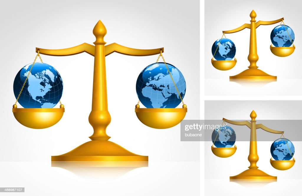 Weighing World Map Globes On Scales Set Vector Art   Getty Images Weighing World Map Globes on Scales Set   Vector Art