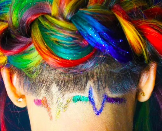 The Meaning Behind This Rainbow Hair Will Make You Cry   Glamour The Meaning Behind This Rainbow Hair Will Make You Cry