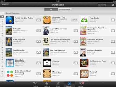 App Store for iPad finally lets you sort Purchased apps alphabetically
