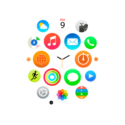 Apple Watch app icons wallpapers for iPhone, iPad, and desktop