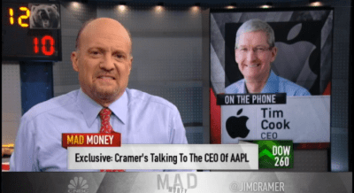 Tim Cook calls into CNBC's 'Mad Money', talks ResearchKit, Apple Pay and more