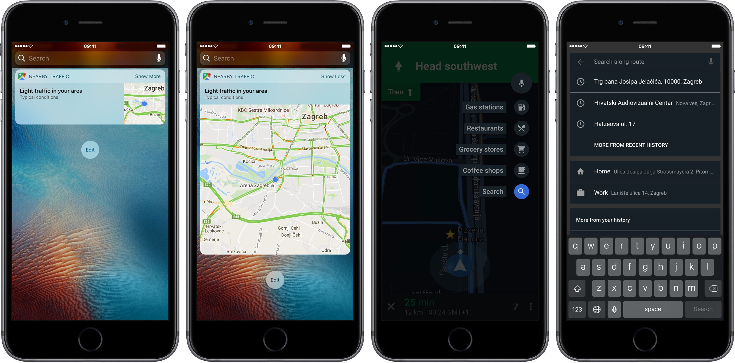 Google Maps for iOS updated with searching along route and Nearby     Google Maps for iOS updated with searching along route and Nearby Traffic  widget