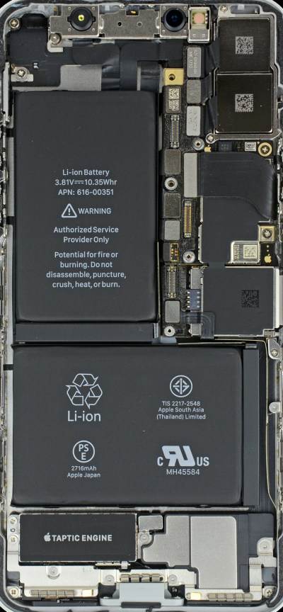 iPhone X internals wallpaper