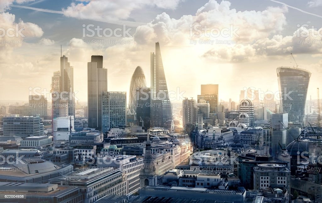 Royalty Free London Pictures  Images and Stock Photos   iStock City of London business and banking aria at sunset stock photo