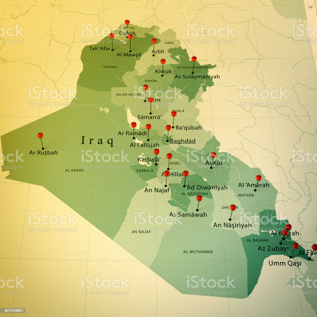 Iraq Map Square Cities Straight Pin Vintage Stock Photo   More     Iraq Map Square Cities Straight Pin Vintage royalty free stock photo