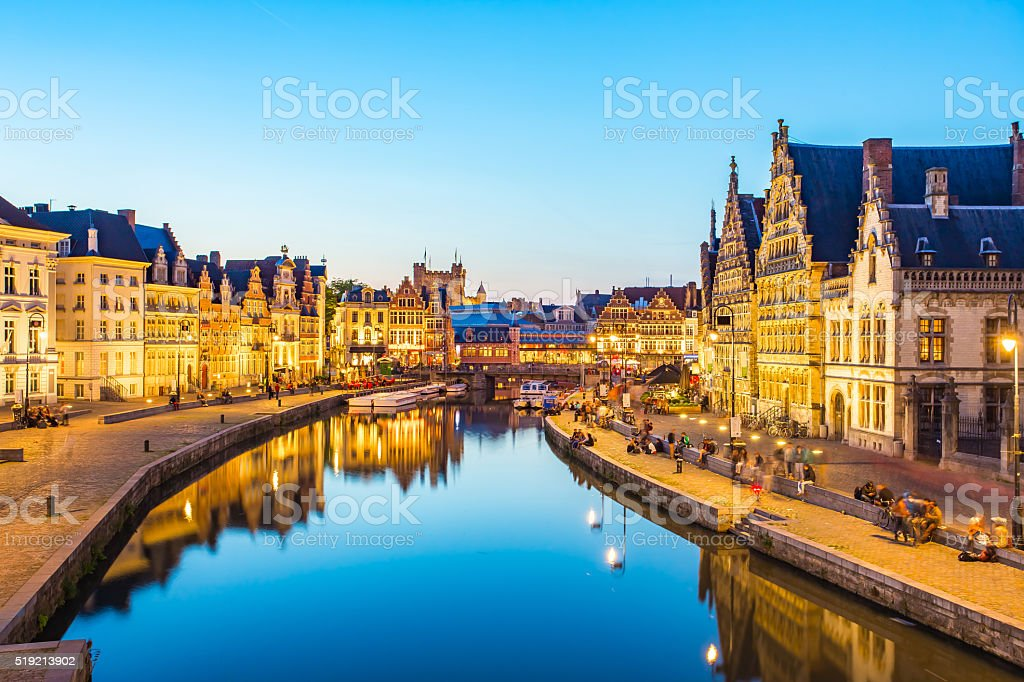 Royalty Free Ghent Belgium Pictures  Images and Stock Photos   iStock Panorama view of Ghent canal in Belgium stock photo