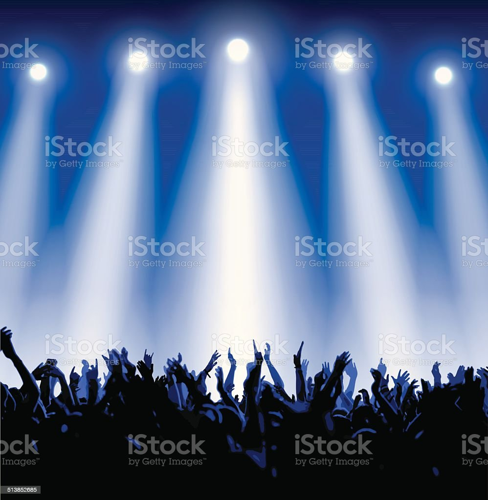 Royalty Free Concert Crowd Clip Art  Vector Images   Illustrations     concert crowd vector art illustration