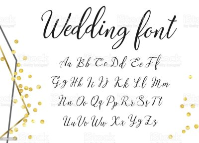 Gold Wedding Font Stock Vector Art & More Images of ...