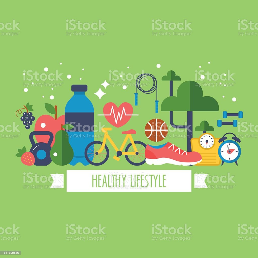 Royalty Free Healthy Lifestyle Clip Art, Vector Images ...