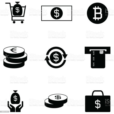 Money Icon Set Stock Vector Art & More Images of Bank 930701974 | iStock