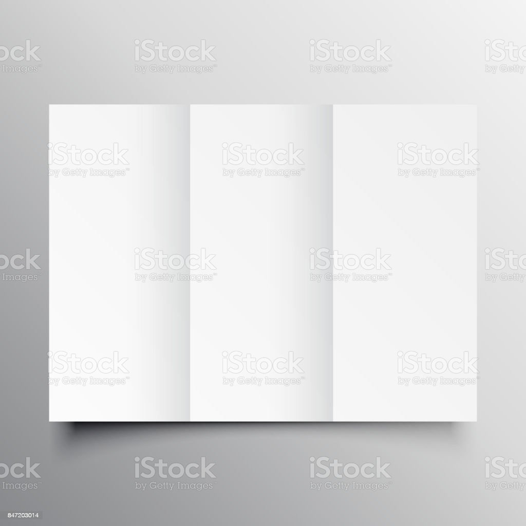 Trifold Brochure Mockup Template Stock Vector Art   More Images of     trifold brochure mockup template royalty free trifold brochure mockup  template stock vector art  amp