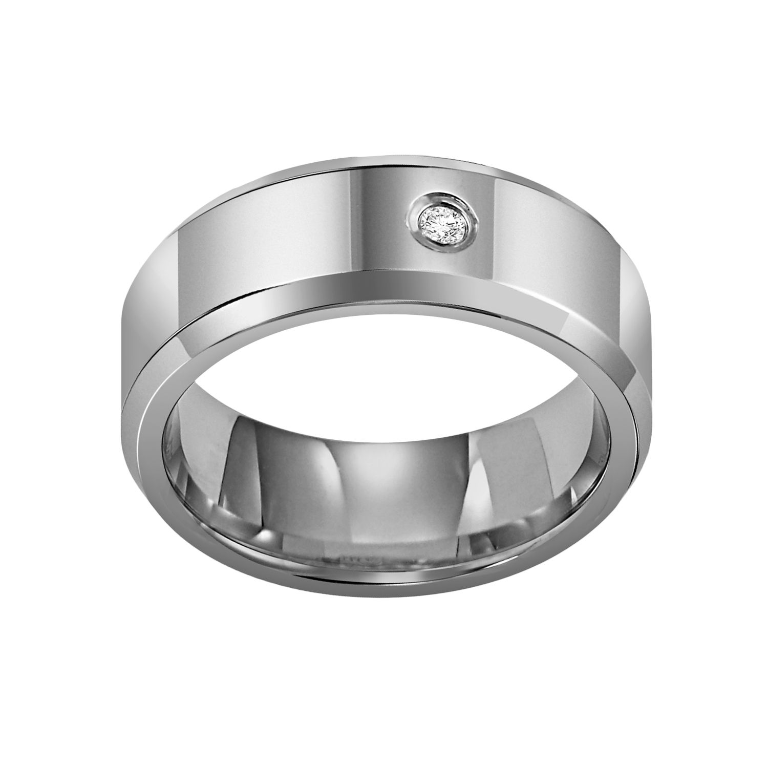 cherish always tungsten carbide diamond accent wedding band men tungsten carbide wedding bands Cherish Always Tungsten Carbide Diamond Accent Wedding Band Men