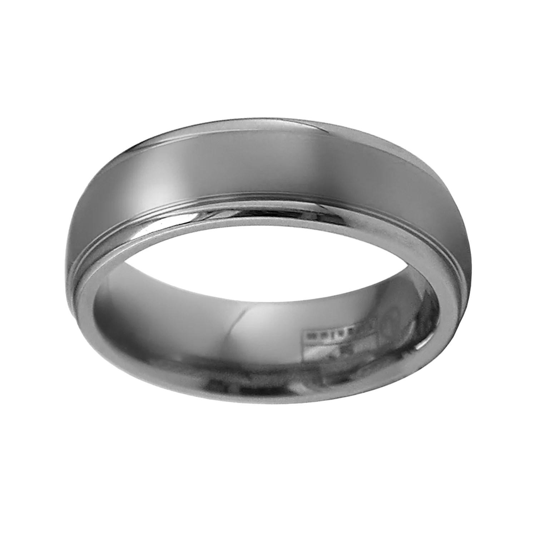 mens titanium wedding bands rings jewelry men wedding band STI by Spectore Gray Titanium Striped Wedding Band Men