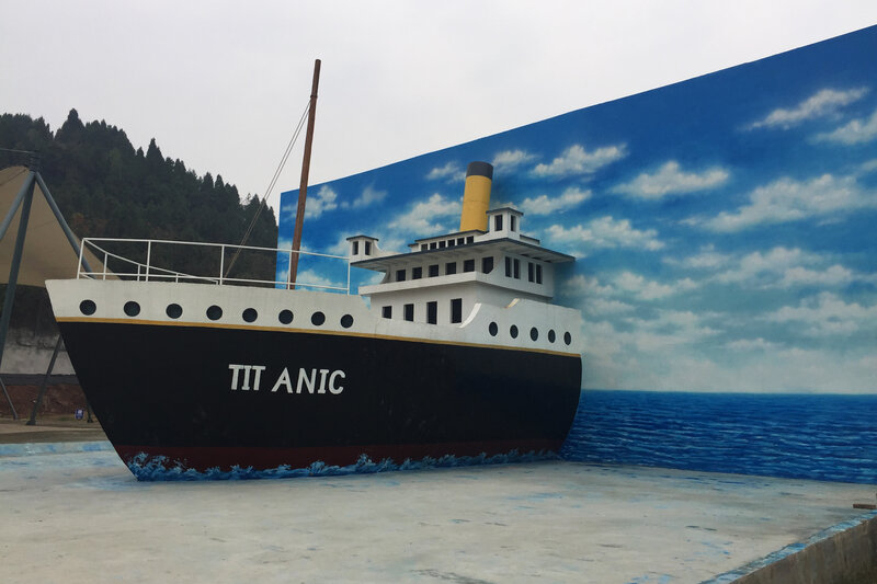 A Life Size Replica Of The Titanic Is Under Construction In China s     A Life Size Replica Of The Titanic Is Under Construction In China s  Countryside