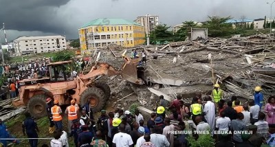 Abuja Building Collapse: NEMA confirms one dead, but residents say many buried
