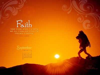 Sept. 2012 - Faith Desktop Calendar- Free September Wallpaper
