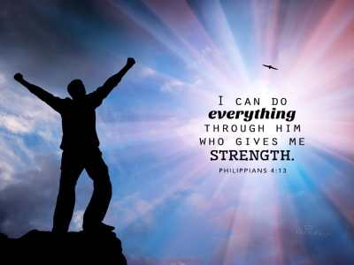 Philippians 4:4 - Strength - Bible Verses and Scripture Wallpaper for Phone or Computer
