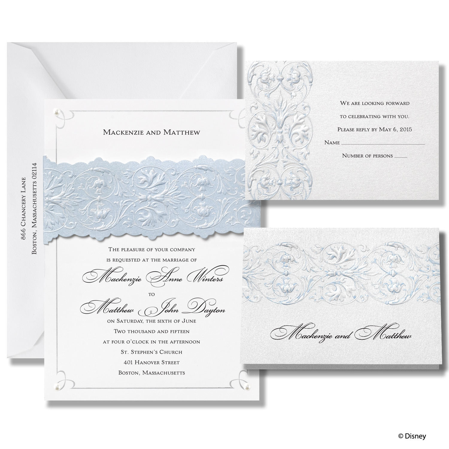 MKZN Once Upon a Time Wedding Invitation Cinderella michaels wedding invites Once Upon a Time Wedding Invitation Cinderella