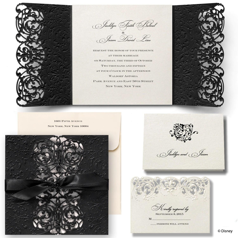 MKZN Inner Beauty Wedding Invitation Belle michaels wedding invites Inner Beauty Wedding Invitation Belle