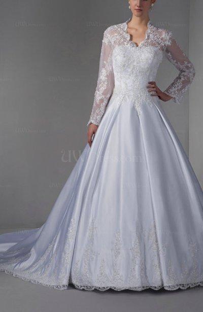 White Disney Princess Hall A-line Long Sleeve Zipper ...