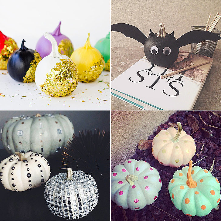 Ideas For Decorating Pumpkins Without Carving   Elitflat No Carve Pumpkin Ideas Popsugar Smart Living