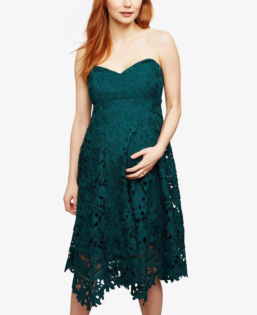 Best Maternity Dresses Wedding Guests maternity dresses for weddings A Pea in the Pod Maternity Lace A Line Dress